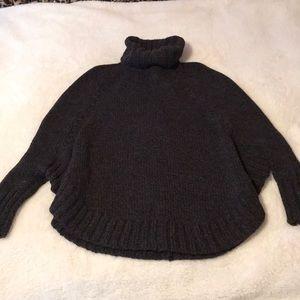 Michael Kors turtleneck poncho sweater